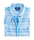 Short-Sleeve Rocky Creek Plaid Slim Tucker Shirt