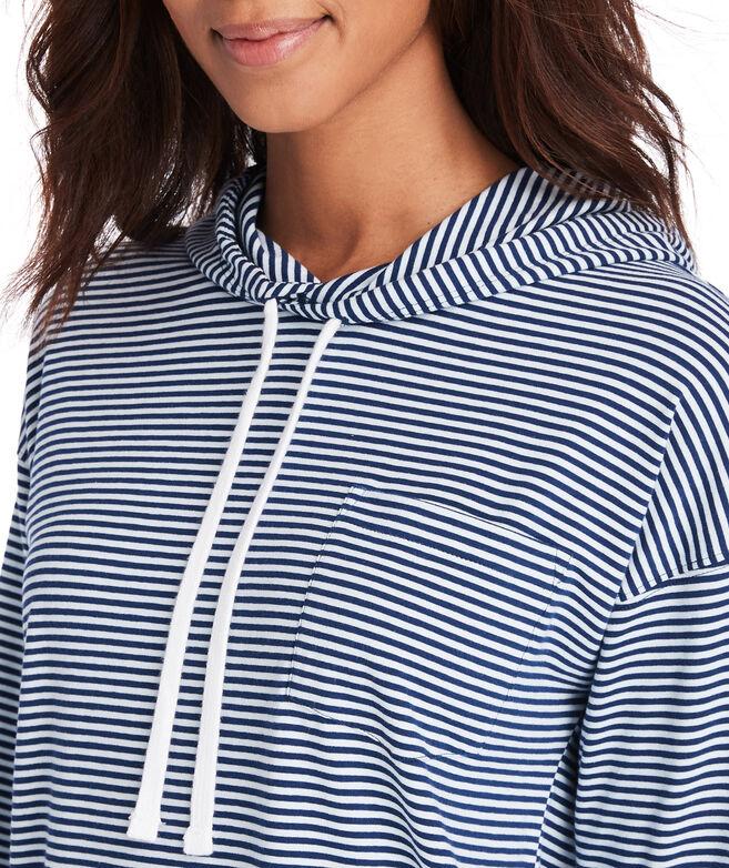 Striped Long-Sleeve Edgartown Hoodie Tee