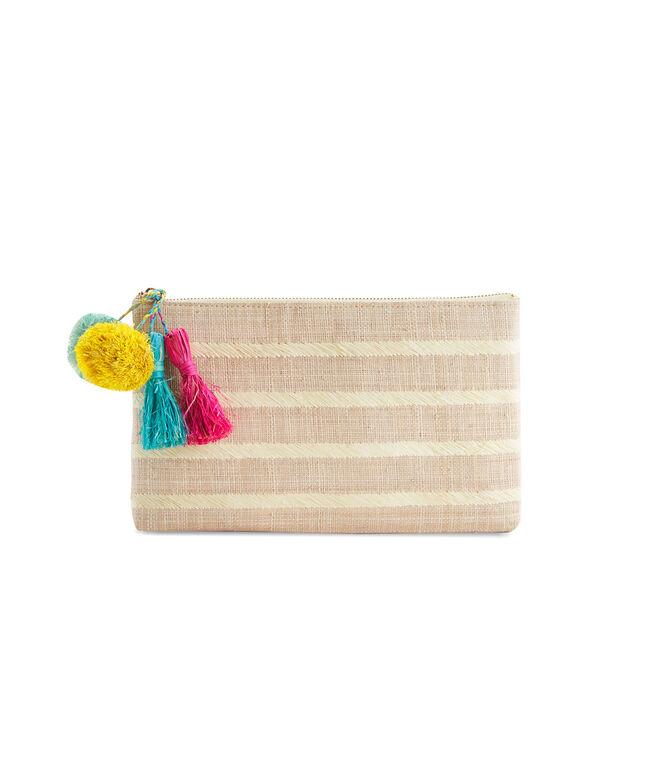 Kayu Woven Striped Clutch