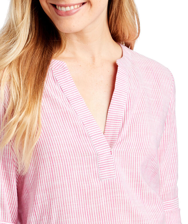 Easy Striped Savannah Popover Top