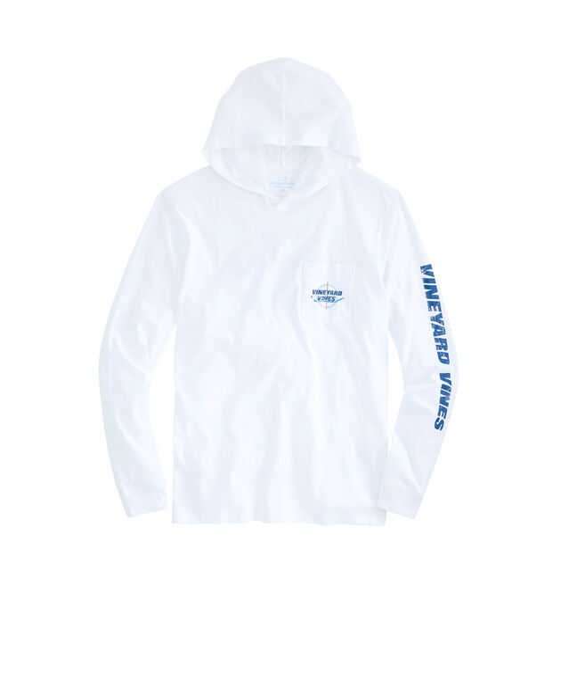 Long-Sleeve Center Ice Hoodie Pocket T-Shirt