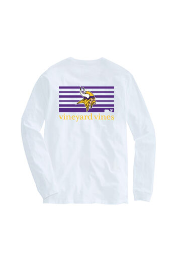 Adult Vikings Long-Sleeve Block Stripe T-Shirt b6c10802b