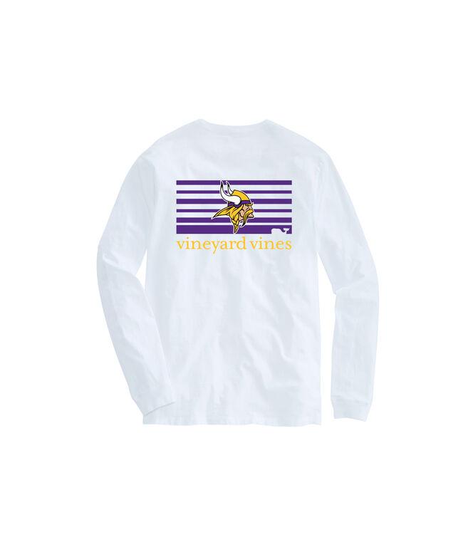 Adult Vikings Long-Sleeve Block Stripe T-Shirt