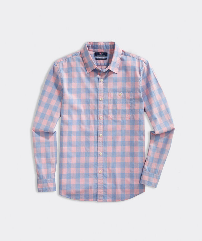 Slim Fit Cove Island Slub Longshore Button-Down Shirt
