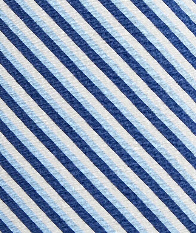 Three Color Stripe Printed Tie
