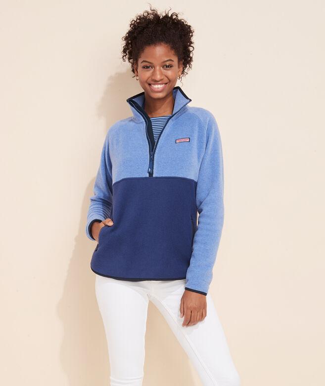 Color-Blocked Polar Fleece 1/2-Zip