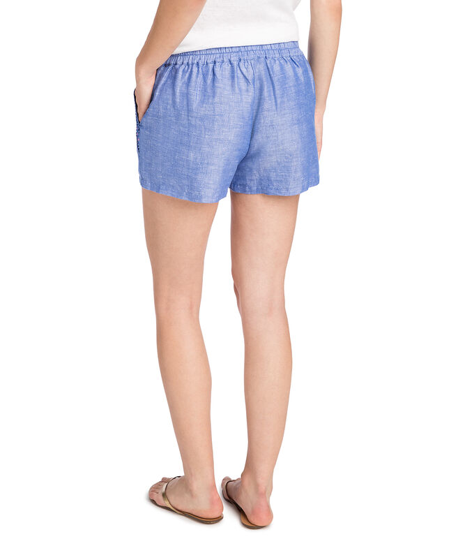 Embroidered Foley Shorts