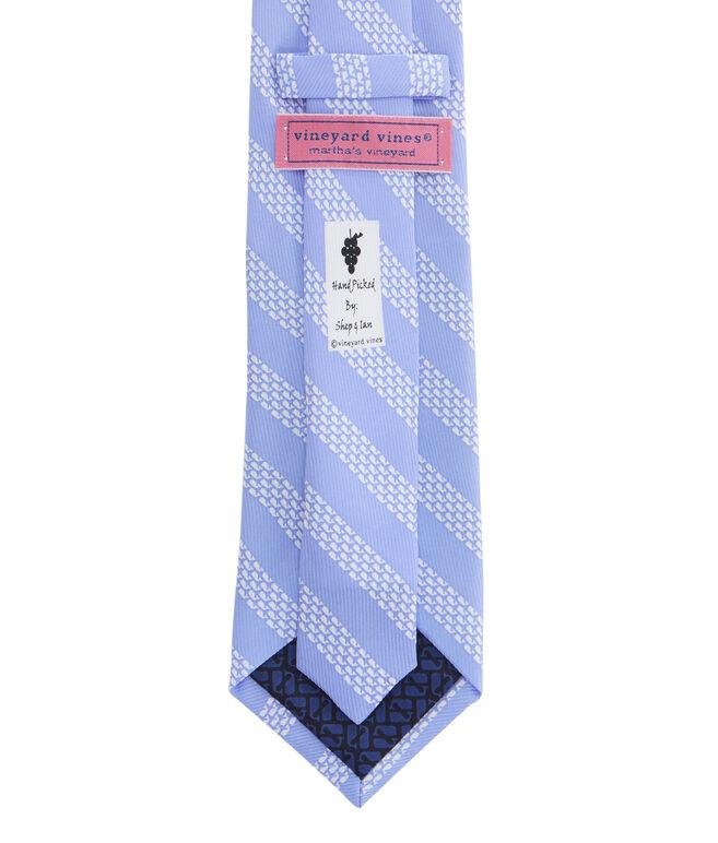 Micro Whale Repp Stripe Tie