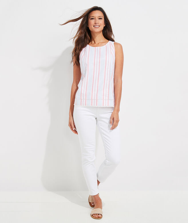 Abacos Stripe Tassel Top