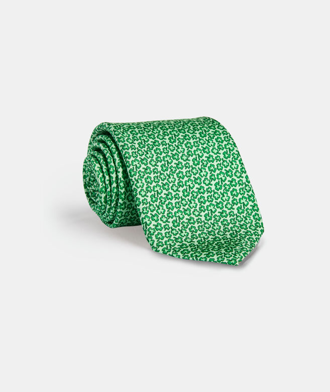 Scattered Clovers Printed Tie