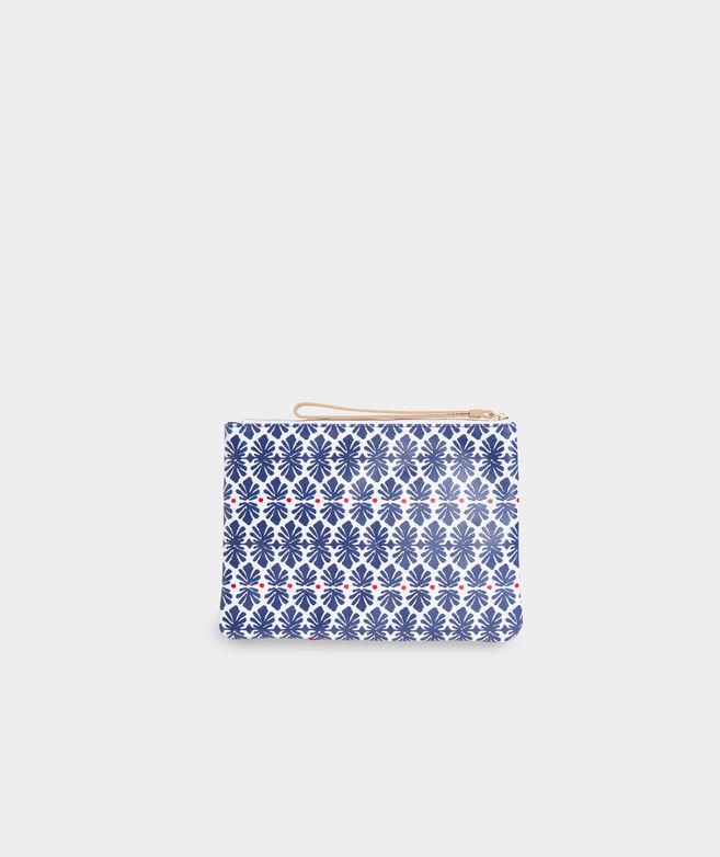 Block Print Fashion Clutch