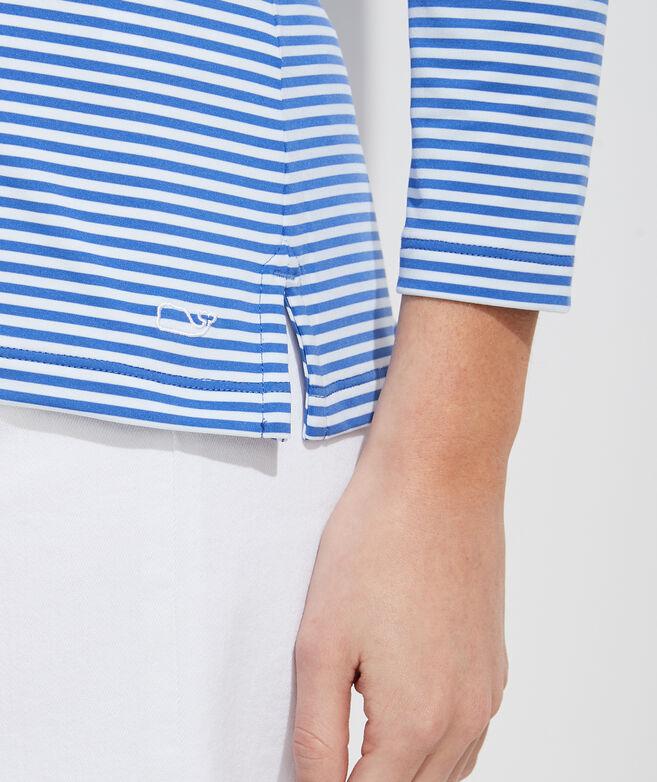Lightweight Striped Sankaty Simple Boatneck Long-Sleeve Tee
