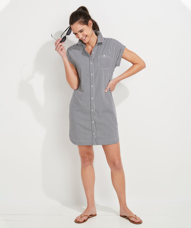 Seersucker Striped Margo Shirt Dress