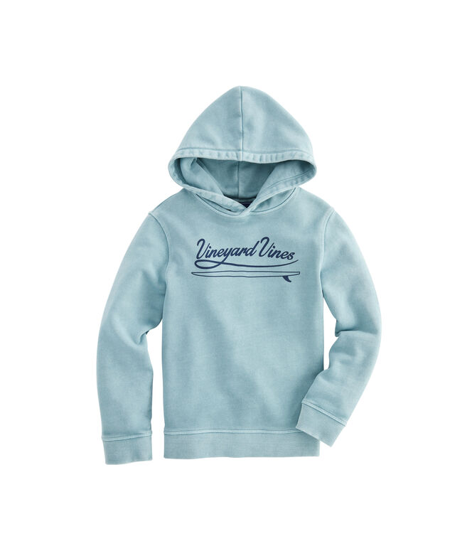 OUTLET Garment-Dyed Surf Logo Graphic Hoodie