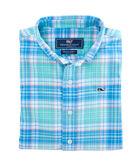 Boys Sandspar Plaid Flannel Whale Shirt