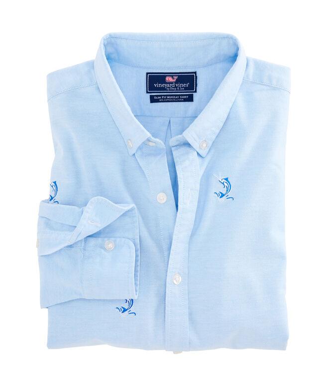 Marlin Embroidered Slim Murray Shirt