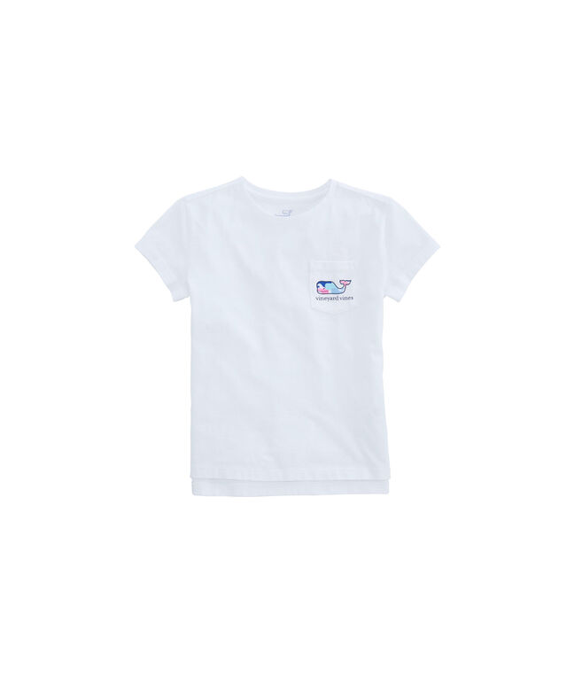 Girls Multi Whale Fill Pocket Tee