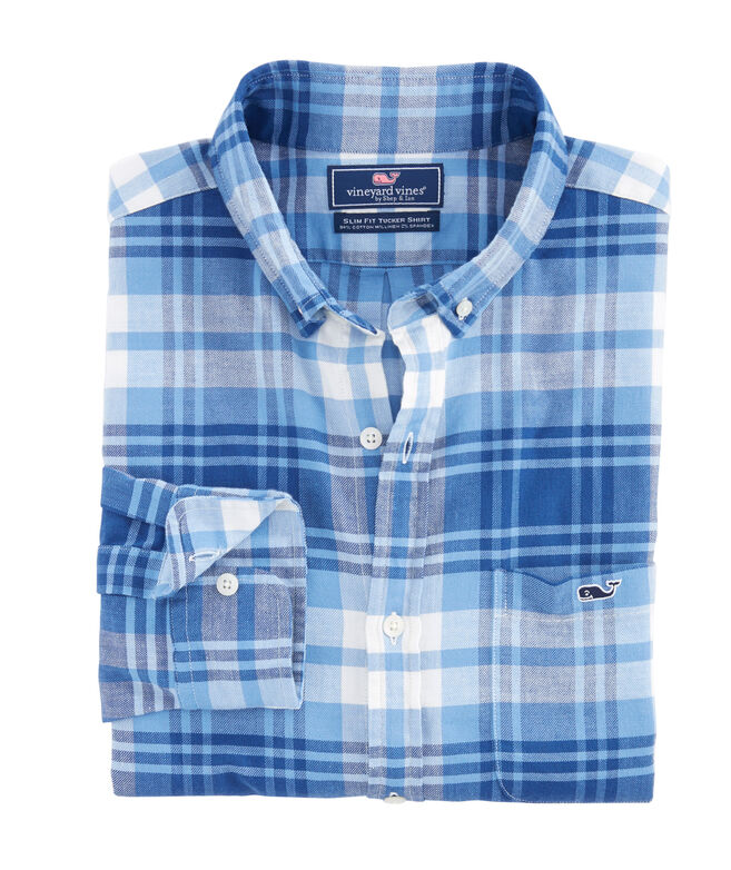 Slim Fit Kings Point Beach Flannel Tucker Shirt