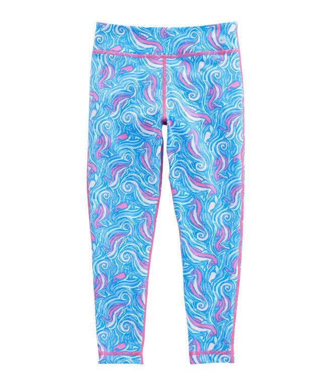 Girls Swirly Seahorse Leggings