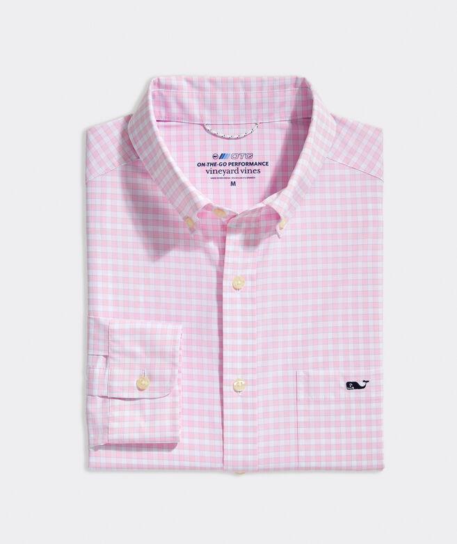 On-The-Go Nylon Gingham Shirt