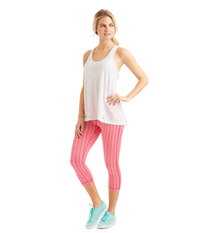 Island Whale Tail Performance Crop Leggings