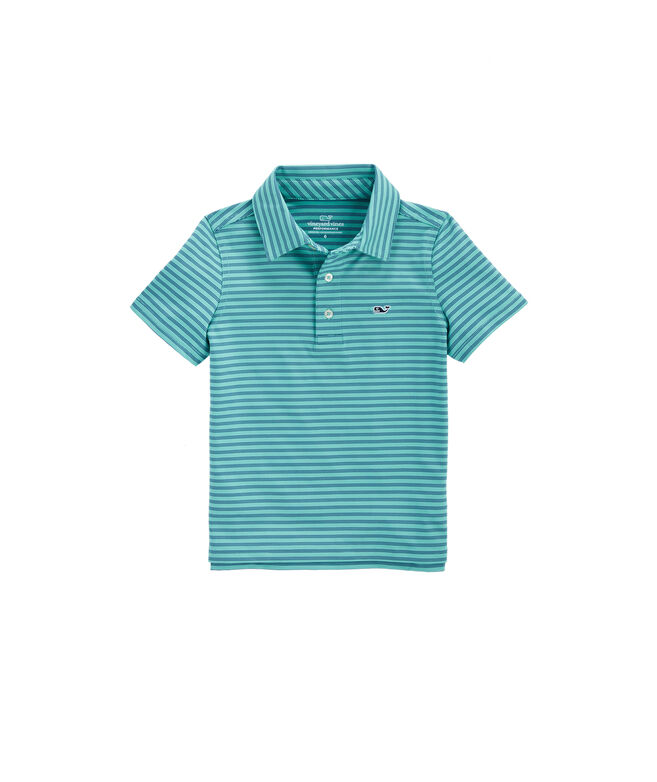 Boys Palmetto Stripe Sankaty Polo