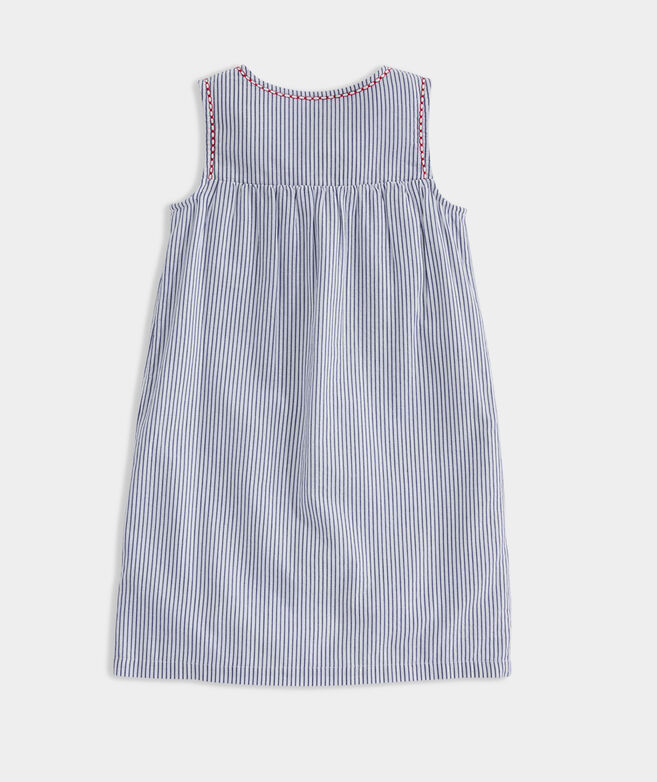 Girls' Sparkler Stripe Embroidered Dress