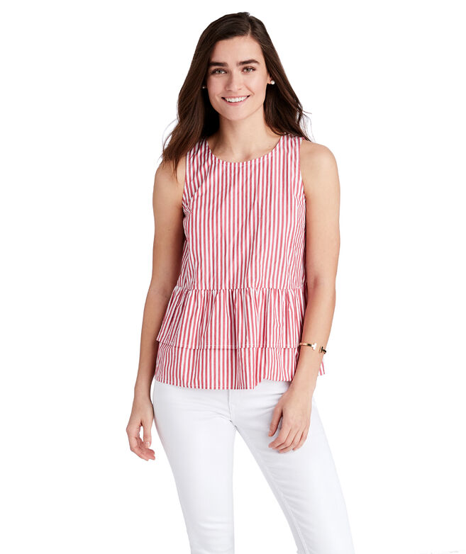 Grier Striped Peplum Top