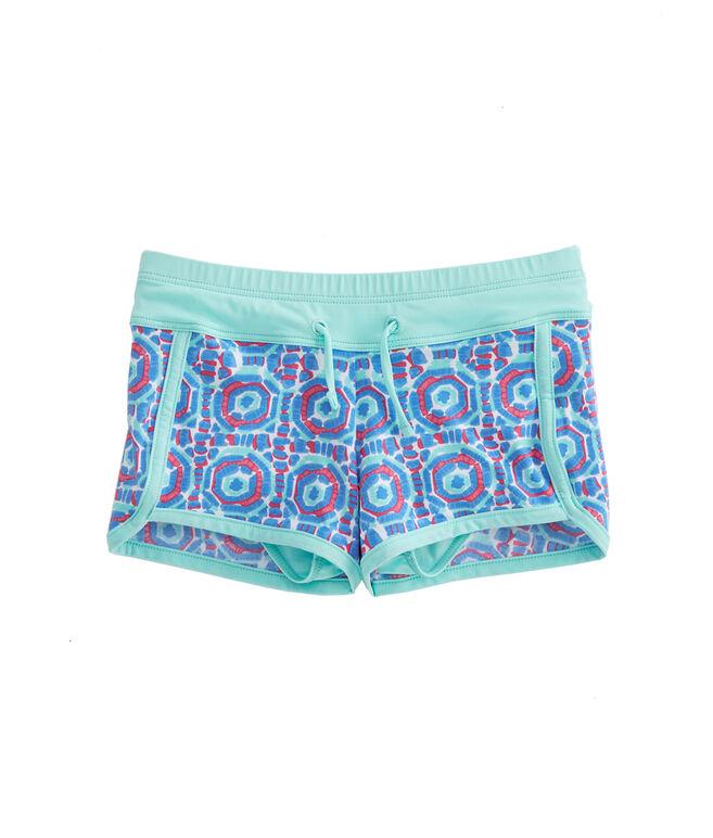Girls Geo Umbrella Swim Shorts