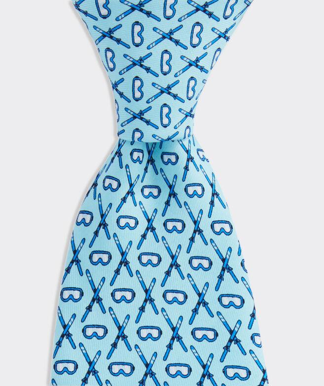 Crossed Skis Tie