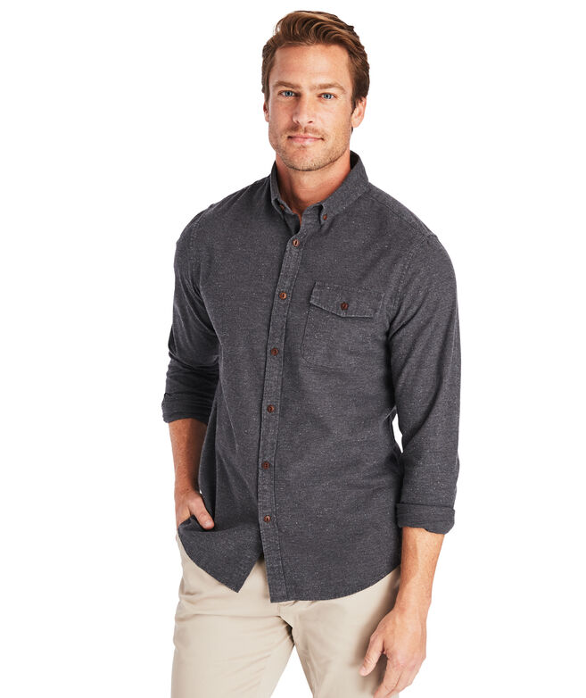 Slim Fit Heather Donegal Crosby Button-Down Shirt