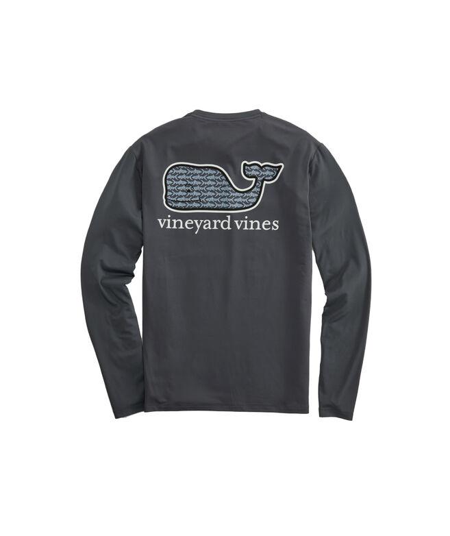 Bonefish Sketch Whale Fill Performance Long-Sleeve T-Shirt