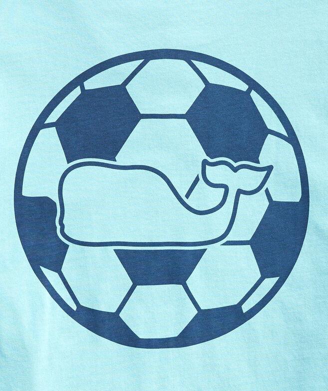 Soccer Whale Dot Long-Sleeve Pocket Tee