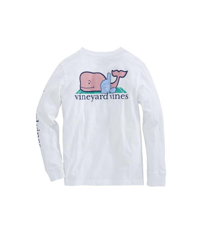 Boys Long-Sleeve Fan Whale Pocket T-Shirt