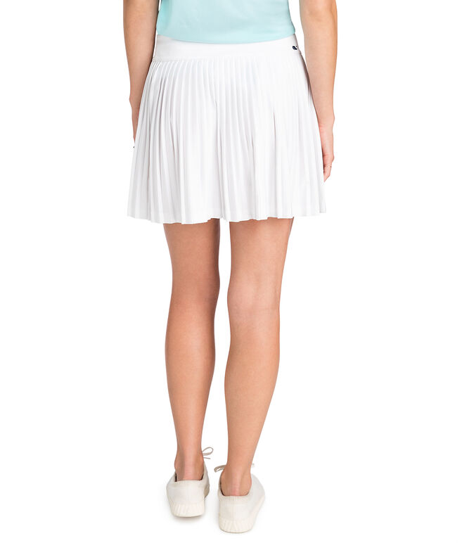 Solid Accordian Pleat Skirt