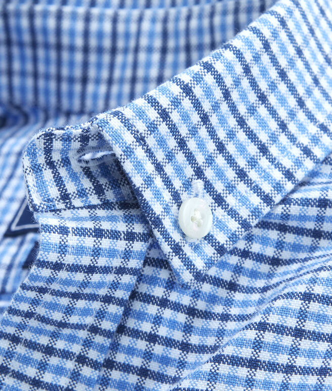 Boys Belle Haven Plaid Oxford Whale Shirt
