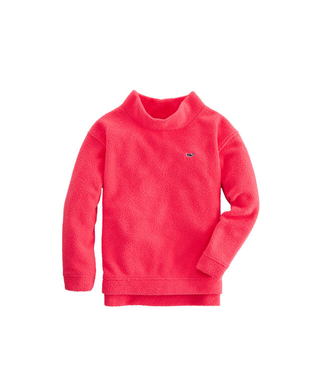 Girls Fuzzy Mock Neck Pullover