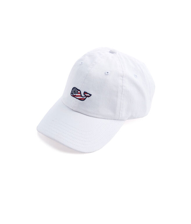 Girls Flag Whale Baseball Hat
