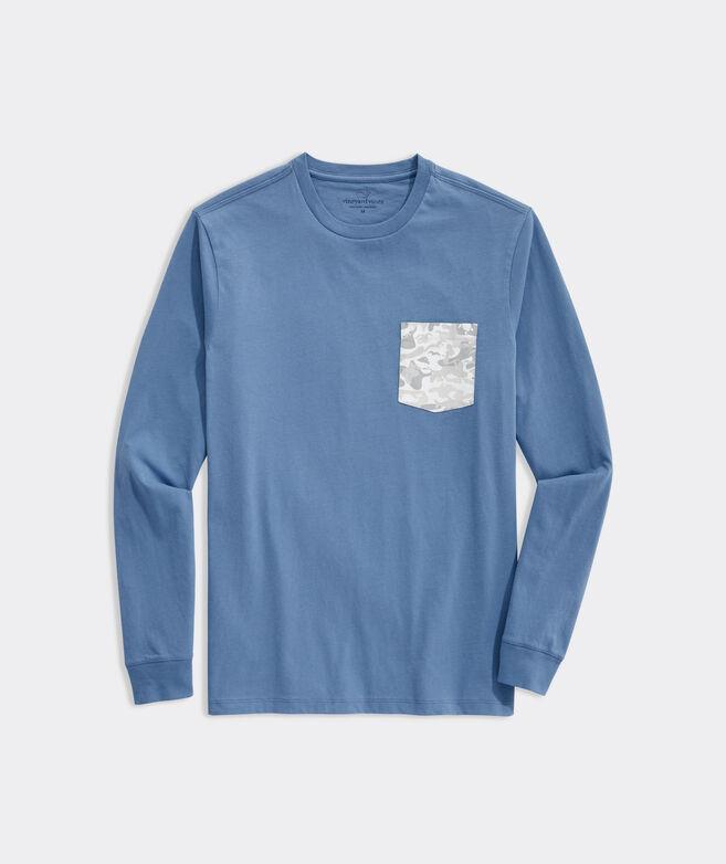 Camo Logo Box Long-Sleeve Pocket Tee