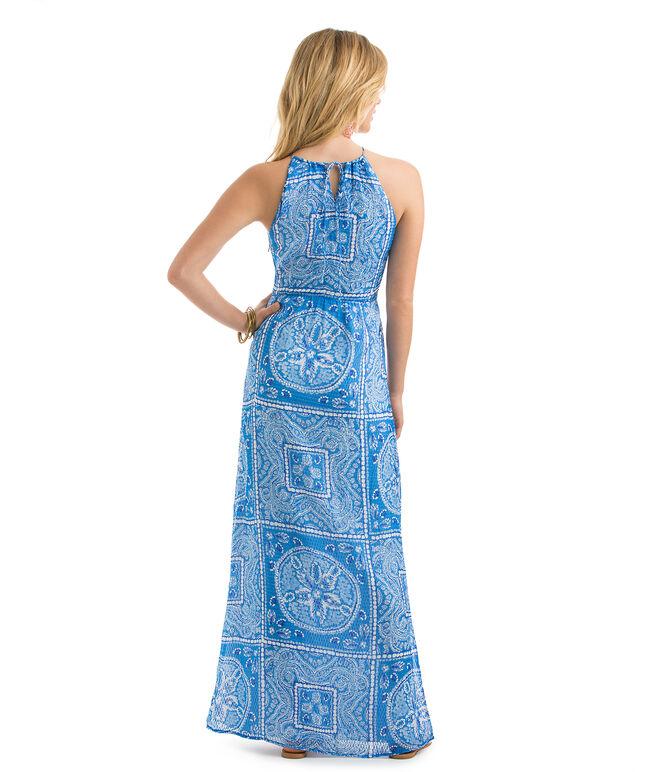 Sand Dollar Scarf Print Maxi Dress