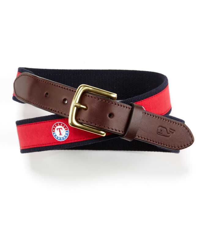 Texas Rangers Canvas Club Belt