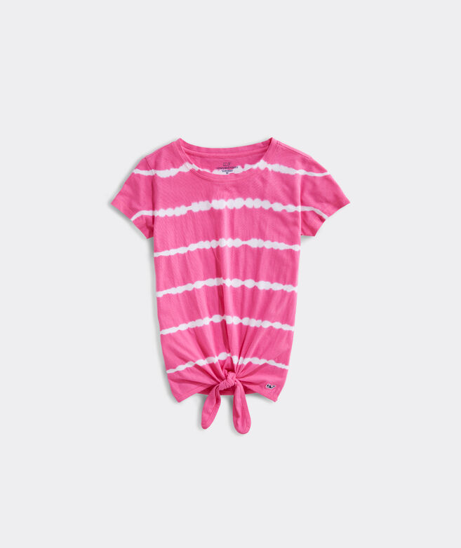 Girls' Tie Dye Tie Short-Sleeve Tee