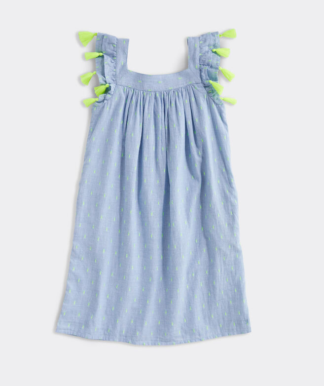 Girls' Neon Clip Jaquard Dress