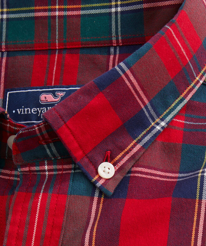 OUTLET Classic Fit Glades Plaid Twill Whale Shirt