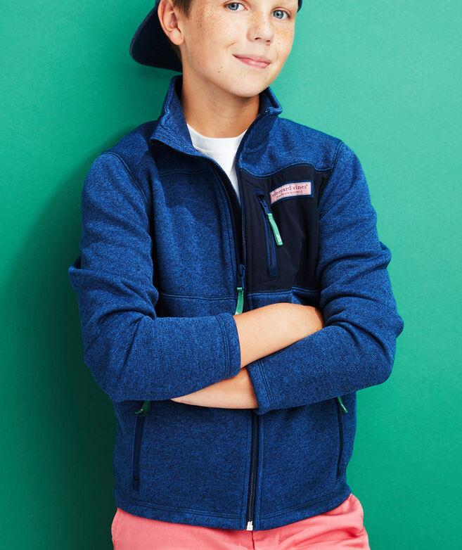 Boys Sweater Fleece Full-Zip Jacket