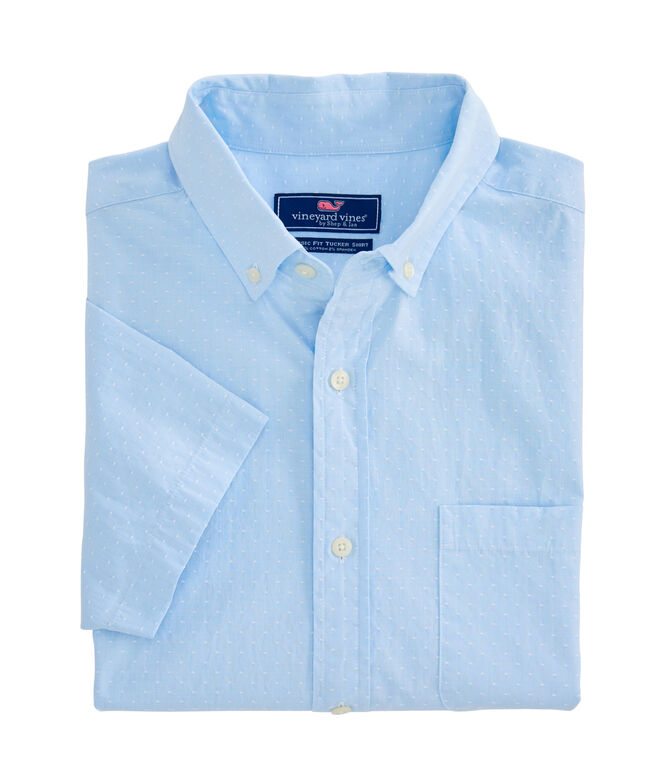 Slim Fit Wavine Dobby Short-Sleeve Murray Shirt