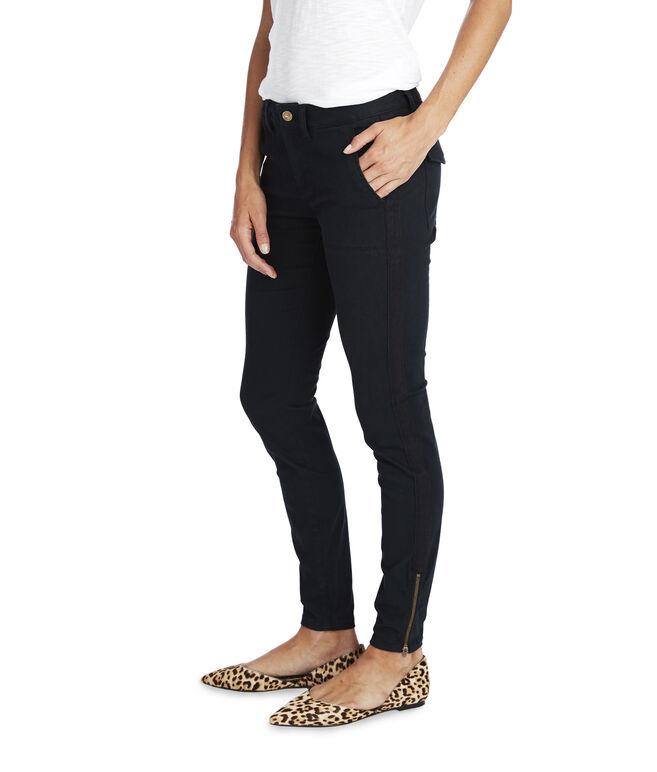 Garment Dyed Skinny Utility Pants