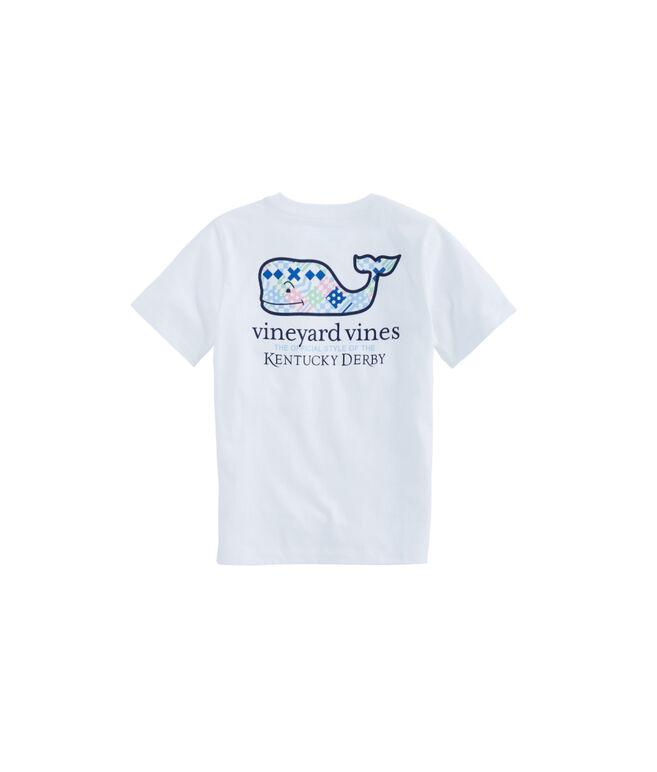 Kids Kentucky Derby Patchwork Whale Fill Pocket T-Shirt