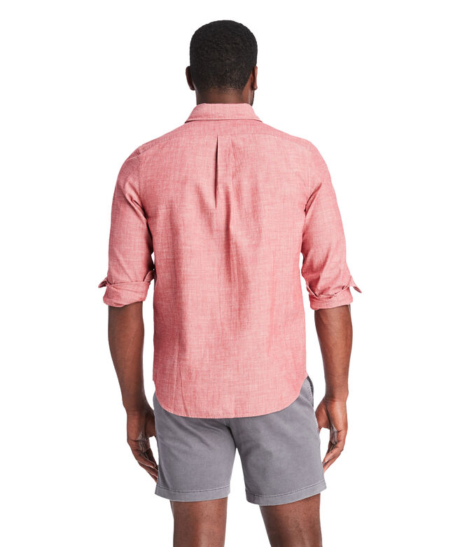 Slim Sea Breeze Solid Dockman Shirt