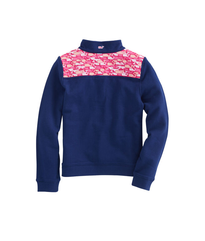 Girls Whale Outline Shoulder Shep Shirt